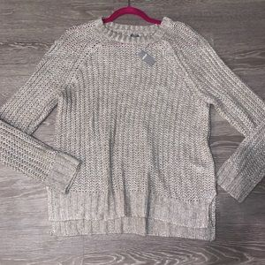 NWT Aerie silver / gray lightweight sweater